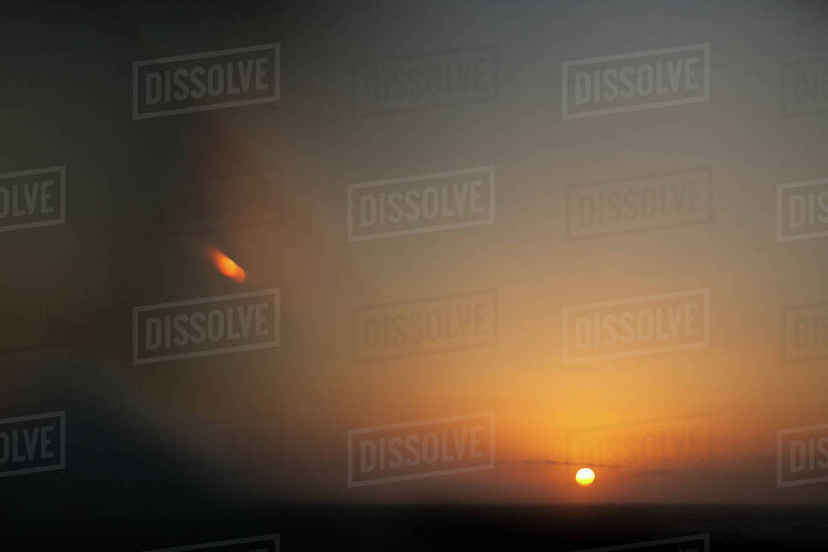 View of sun above horizon Royalty-free stock photo