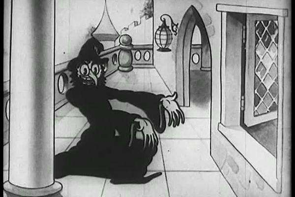 An animated fairy tale cartoon from 1933. Royalty-free stock video