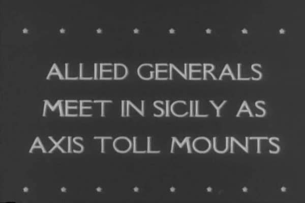 Allied Generals meet in Sicily after the Sicilian Campaign, where thousands of Italian prisoners of war were captured, during WWII. Royalty-free stock video
