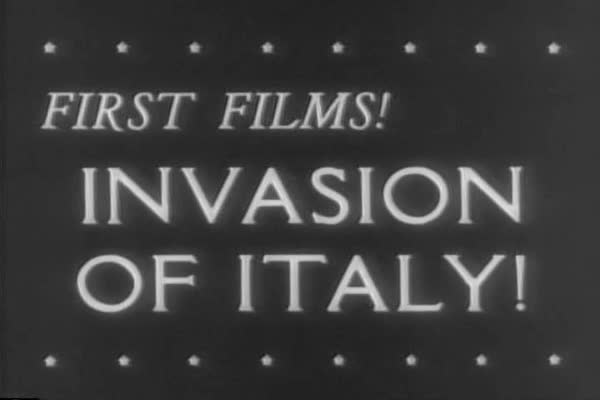 Allied troops under General Montgomery and Lieutenant General Clark begin the invasion of mainland Italy during WWII. Royalty-free stock video