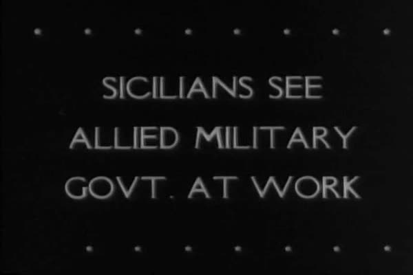 The Allied government restores peace and order to Sicily after Nazi occupation in WWII. Royalty-free stock video
