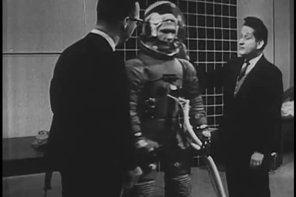 An early spacesuit design's use of internal gasses for pressurization and comfort in the 1960s. Royalty-free stock video