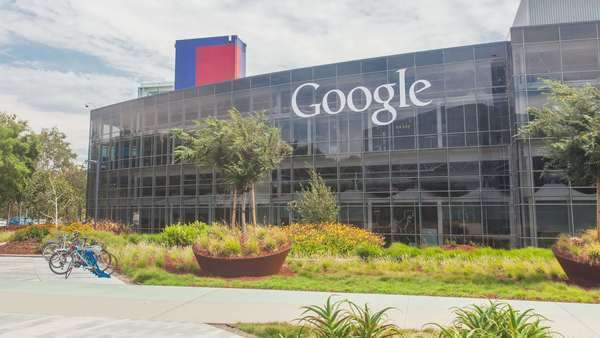 Hyperlapse of the Google headquarters in Palo Alto, California, USA Rights-managed stock video