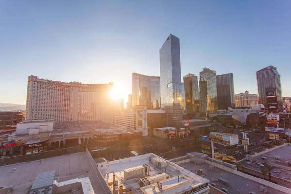 Hyperlapse of high-rise buildings in Las Vegas,  Nevada Rights-managed stock video