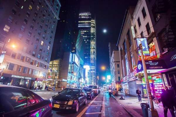 Hyperlapse of traffic in Manhattan, New York City Rights-managed stock video