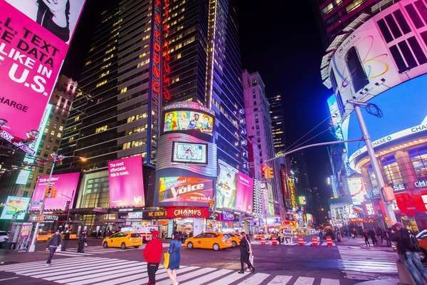 Hyperlapse of Times Square at night, New York City Rights-managed stock video