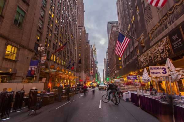 Hyperlapse shot of Park Avenue in New York City Rights-managed stock video