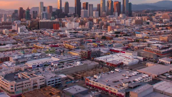Hyperlapse of Los Angeles at sunset Royalty-free stock video