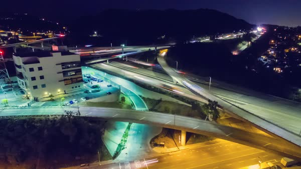 Hyperlapse of traffic on an interchange Royalty-free stock video