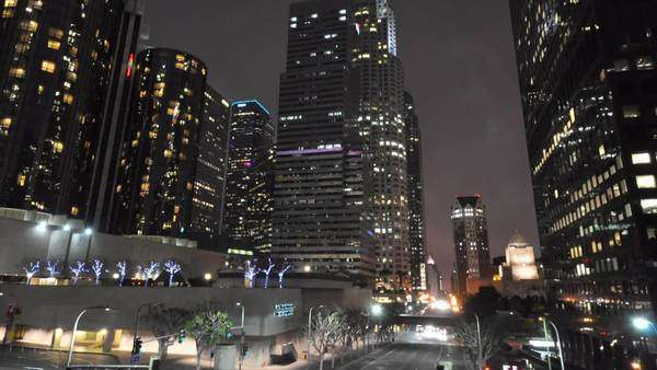 Downtown, Los Angeles, California. Hyperlapse. Timelapse in motion of buildings Royalty-free stock video