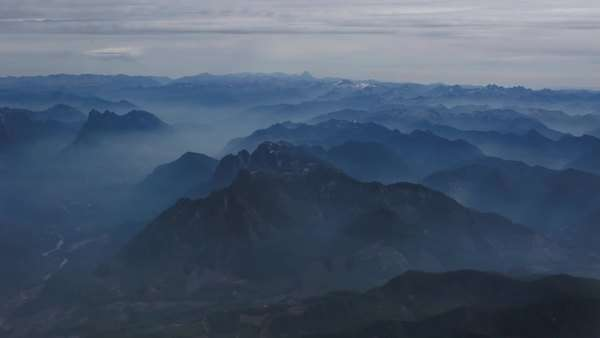 Aerial shot of mountain range Royalty-free stock video