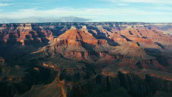 Landscape shot of the Grand Canyon in Arizona. Royalty-free stock video