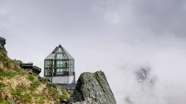 Timelapse shot of a viewpoint in Grossglockner, Austria Royalty-free stock video