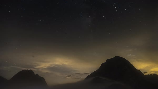 Wide shot of stars over the mountains timelapse Royalty-free stock video
