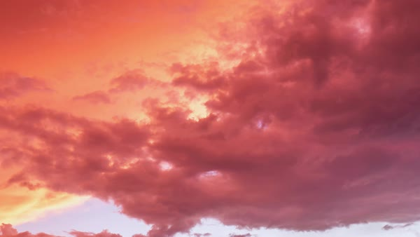 Timelapse of clouds moving at sunrise Royalty-free stock video