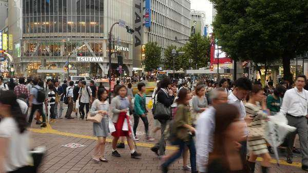 Timelapse Pan of Busy Shibuya Station & Crossing in Tokyo Japan Royalty-free stock video