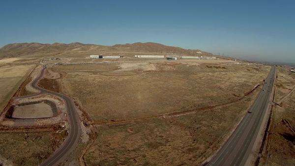 Aerial view of NSA Security Center in Utah Royalty-free stock video