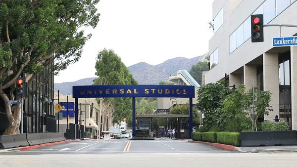 Universal Studios - Studio Lot Gate Royalty-free stock video