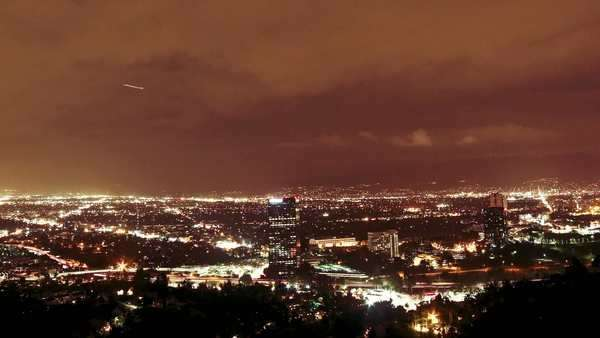 4k Timelapse clip of the San Fernando Valley in Los Angeles at night in 4k resolution Royalty-free stock video