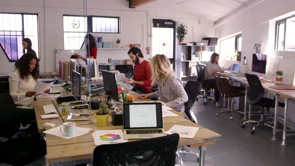 Time lapse sequence of busy design office Royalty-free stock video