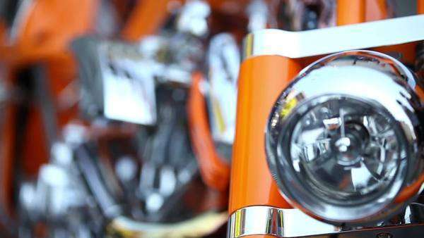 Close-up shot of the engine of a motorcycle Royalty-free stock video