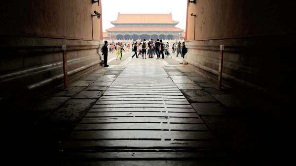 Gateway to the Forbidden City Tiananmen Square Beijing China Asia Royalty-free stock video