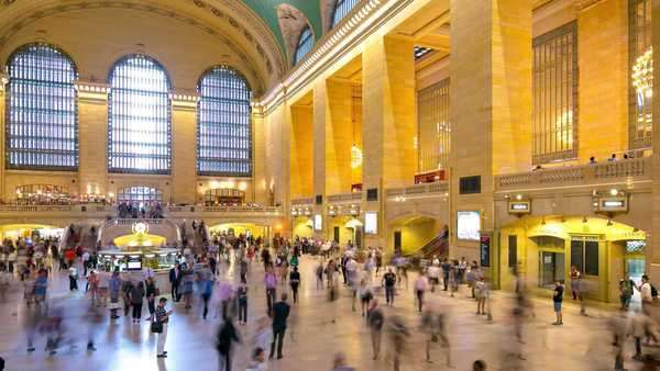 Grand central rush hour traffic timelapse from New York Royalty-free stock video