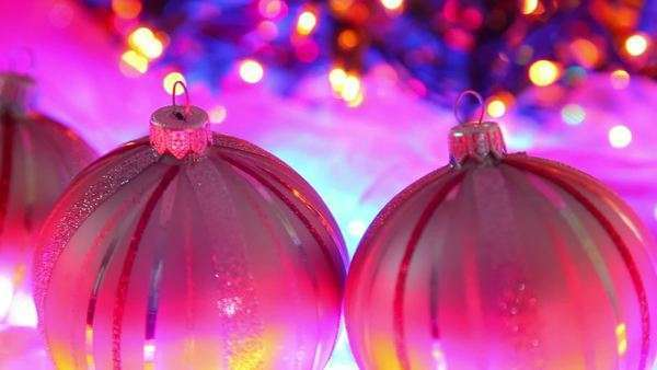 Christmas Magenta Pink Background Royalty Free Stock Video
