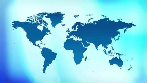Technology world map background stock video footage dissolve blue title world map background royalty free stock video gumiabroncs Choice Image