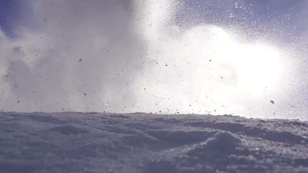 Slow motion of Snow avalanche Royalty-free stock video