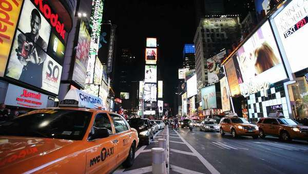 New York's Time Square at night Royalty-free stock video