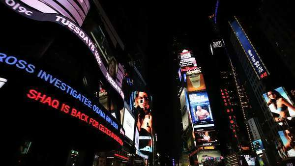 Digital billboards in Time Square, New York Royalty-free stock video