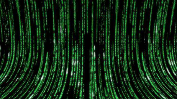 Matrix code 3D, green on black Royalty-free stock video