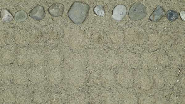Stop motion of stones moving in the sand Royalty-free stock video