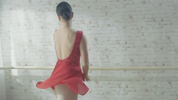 Young female dancer performs contemporary dance Royalty-free stock video