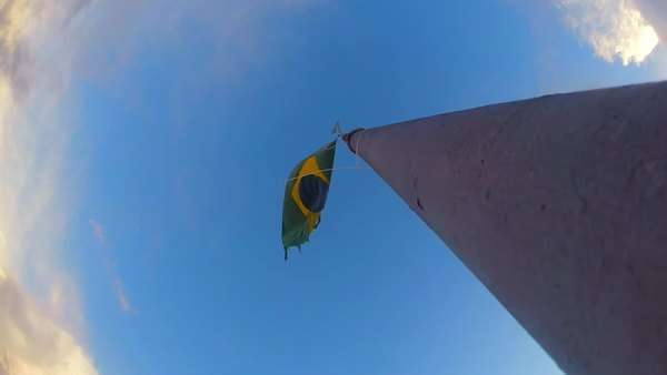 Brazil flag waving Royalty-free stock video