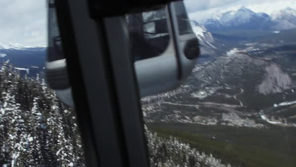 Tracking shot of a gondola lift Royalty-free stock video