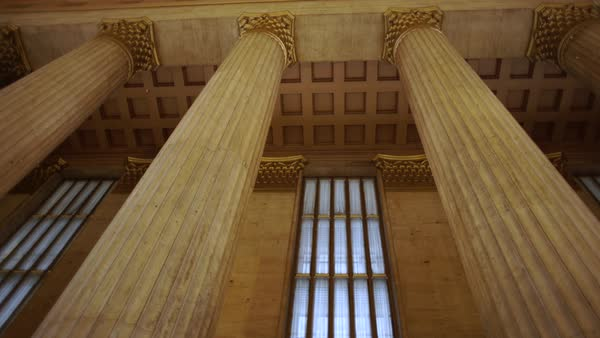 Medium shot of the 30th Street Station in Philadelphia, Pennsylvania, USA Rights-managed stock video