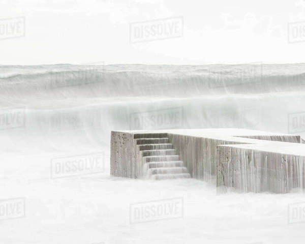 Water cascading over stairs Royalty-free stock photo