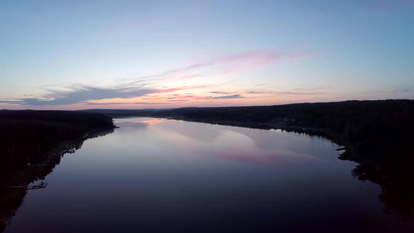 River at sunset Royalty-free stock video