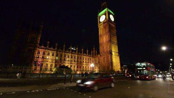 London night traffic Westminster Royalty-free stock video