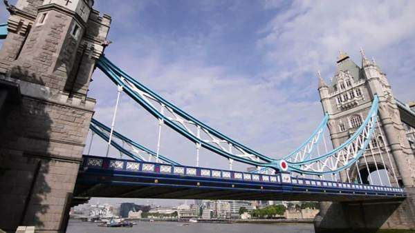 London Tower Bridge Royalty-free stock video