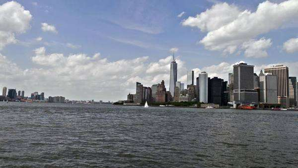 Lower Manhattan panorama Royalty-free stock video