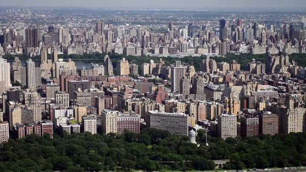 New York helicopter aerial view of central park Royalty-free stock video