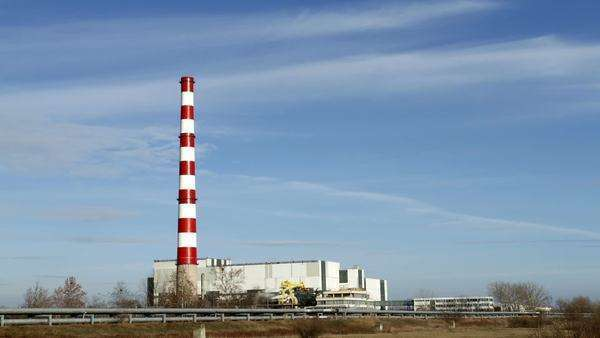 Chimney of thermal power plants Royalty-free stock video