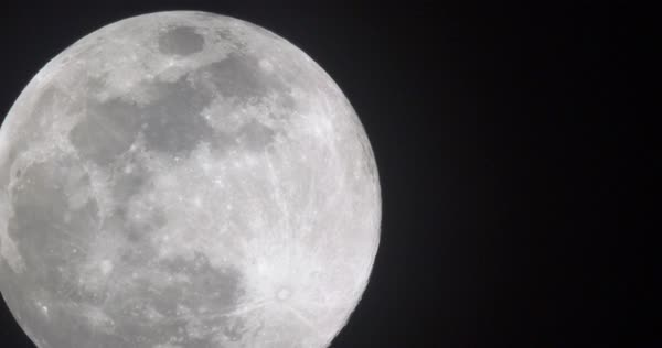 A real time shot of the full moon on a clear night.  Royalty-free stock video
