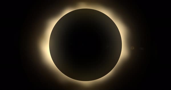 An animated background plate of a solar eclipse. Loopable.  Royalty-free stock video