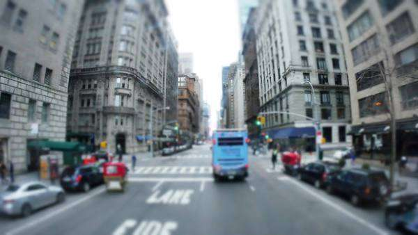 A driver perspective of driving through the streets of Manhattan. Royalty-free stock video