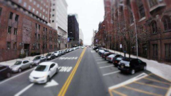 A driver's perspective of driving through the streets of Manhattan. Royalty-free stock video