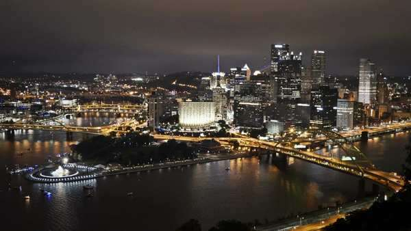 The Point in downtown Pittsburgh, Pennsylvania. Royalty-free stock video